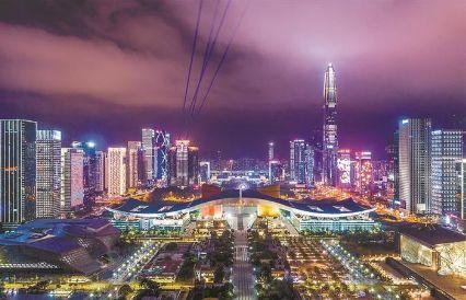 鹏城夜景灯光秀带你领略城市之光金属打标机